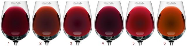 Color De Los Vinos Tintos